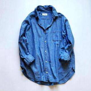 PLST - 美品✨プラステ デニムシャツ ダンガリーシャツ 長袖シャツ  春 ブルー