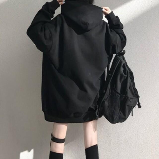 304*韓国ファッション!【新品未使用】BIGシルエット*肩チャックパーカー レディースのトップス(パーカー)の商品写真