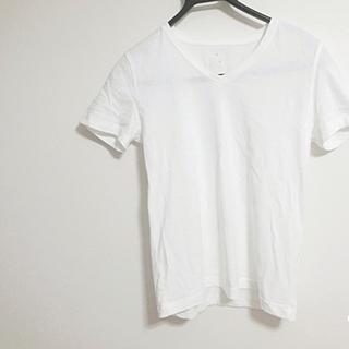 ムジルシリョウヒン(MUJI (無印良品))のVネック 白T 無印良品(Tシャツ(半袖/袖なし))