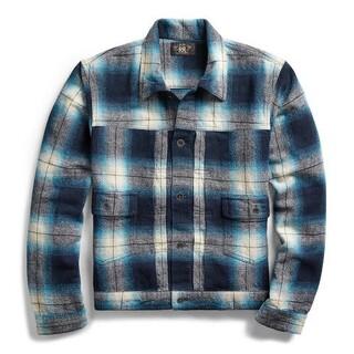 ダブルアールエル(RRL)のプラッド シャツ ジャケット gジャン デニムジャケット 風 2nd タイプ(Gジャン/デニムジャケット)