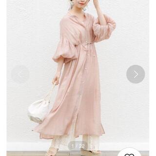 who's who Chico - 定価7590円 シアーロングシャツワンピース ピンク ベルトなし