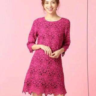 ミーア(MIIA)のMIIA 枠ピンク花柄ワンピース(ミニワンピース)