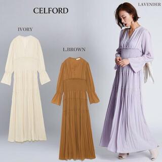 FRAY I.D - 【新品】CELFORD♡ 春プリーツワンピース *白・紫あります