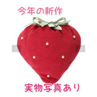 メゾンドフルール(Maison de FLEUR)のMaison de FLEUR イチゴ巾着ポーチ 苺 いちご ストロベリー 赤(ポーチ)