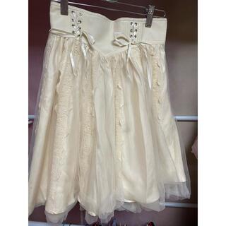 シークレットハニー(Secret Honey)のSecret Honeyコルセットチュールスカート(ひざ丈スカート)