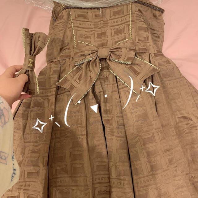Angelic Pretty(アンジェリックプリティー)のMelty Ribbon Chocolate レディースのワンピース(ひざ丈ワンピース)の商品写真