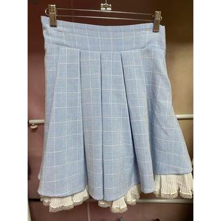 シークレットハニー(Secret Honey)のSecret Honeyバックリボンチェックプリーツスカート(ミニスカート)