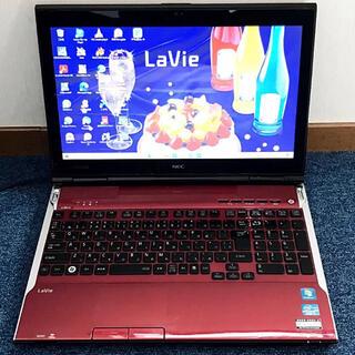 NEC - ☆美しい赤☆4コアi7/ブルーレイ/大容量爆速SSD NEC LL750/H