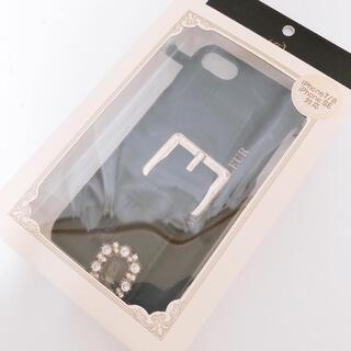 Maison de FLEUR - メゾンドフルール iPhone8 7 ケース ブラック ビジュー ベルト