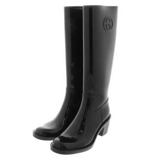 グッチ(Gucci)のmerci様専用 GUCCI レインブーツ ブラック(レインブーツ/長靴)