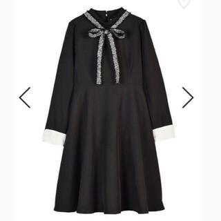 evelyn - 定価7900円+税 ツイードリボン付きワンピース 黒