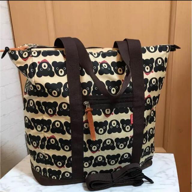 mikihouse(ミキハウス)のミキハウス DOUBLE.B    ダブルB  トートバック  ブラックベアー レディースのバッグ(トートバッグ)の商品写真