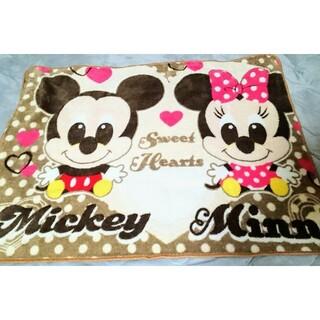 ディズニー(Disney)のミッキー&ミニー膝掛け(毛布)
