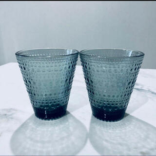 イッタラ(iittala)の【新品】イッタラ  カステヘルミ  タンブラー  グラス 2個セット グレー(グラス/カップ)
