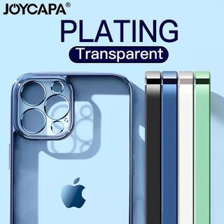 売り切れ続出 ✨クリア 透明 メタリック シンプル iPhone ケース