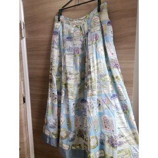 JaneMarple - ジェーンマープル jardin violetスカート サックス