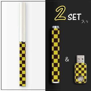 プルームテック(PloomTECH)の②Ploom TECH バッテリー・USBチャージャー用 スキンシール 2セット(タバコグッズ)