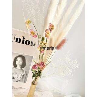 ✨即購入◎韓国Springスワッグ✳︎ デルフィニウム&薔薇(ドライフラワー)