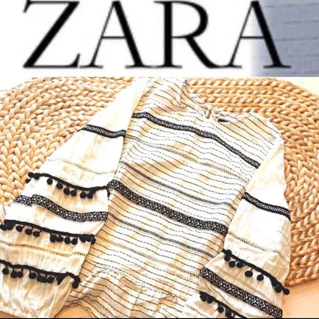ZARA(ザラ)のZARAエンブロイダリーブラウス★刺繍ZARA完売品 レディースのトップス(シャツ/ブラウス(長袖/七分))の商品写真