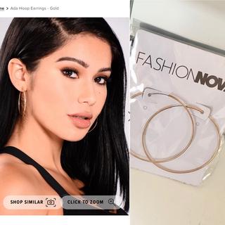 新品 fashion nova フープピアス