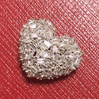 ☆ キラキラハート☆ ダイヤモンドペンダント ☆ k18wg ホワイトゴールド