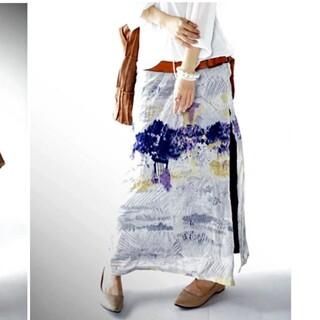 antiqua - 新品未使用 アンティカ 水彩柄ロングスカート