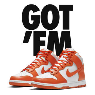 NIKE - NIKE DUNK High ORANGE blaze ダンク 27.5