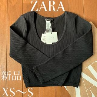 ZARA - ZARA クロップド リブロンT