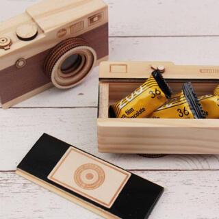 KALDI - カルディ 一眼レフカメラ(木箱)茶色