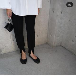 IENA - ella 裾スリットパンツ ブラック