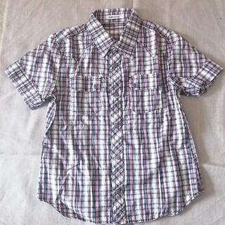 ベベ(BeBe)のBeBe140cm前開き半袖シャツ(Tシャツ/カットソー)