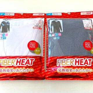 シマムラ(しまむら)のファイバーヒート メンズ長袖V首シャツ Mサイズ 新品(その他)