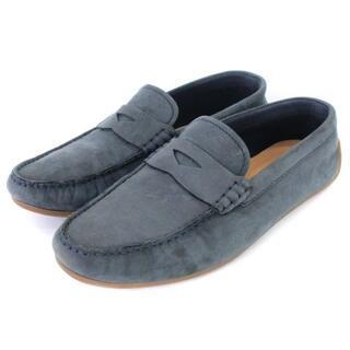 クラークス(Clarks)のクラークス レアゾラ ペニー ローファー ネイビーヌバック UK6.5 靴(スリッポン/モカシン)
