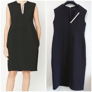 YOKO  CHAN ヨーコチャン/スリットライン パール ワンピース ドレス