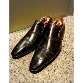 クロケットアンドジョーンズ(Crockett&Jones)のカルツォレリアトスカーナ スリッポン 42表記 27㎝  イタリア製 革靴 (ドレス/ビジネス)