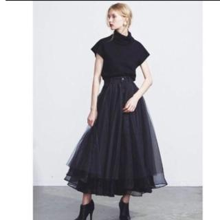 ラベルエチュード(la belle Etude)のデニムドッキングボリュームチュールスカート(ロングスカート)