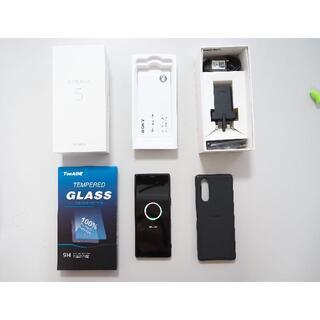 SONY - Sony Xperia5 本体、純正ケース・新品ガラスフィルム付美品