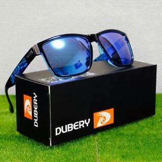DUBERY 偏光サングラス ブルー タレックス・オークリーのホルブルック型(サングラス/メガネ)