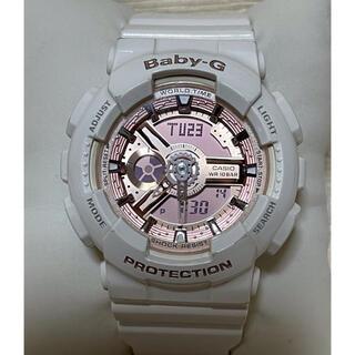 ベビージー(Baby-G)のGショック Baby-G ホワイト & ピンクゴールド 腕時計(腕時計)