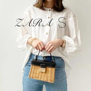 ZARA - ZARA カットワーク エンブロイダリー ブラウス S