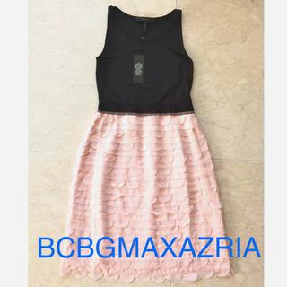 BCBGMAXAZRIA - 新品 未使用 タグ付 BCBGMAXAZRIA シルク 切り替え ワンピース