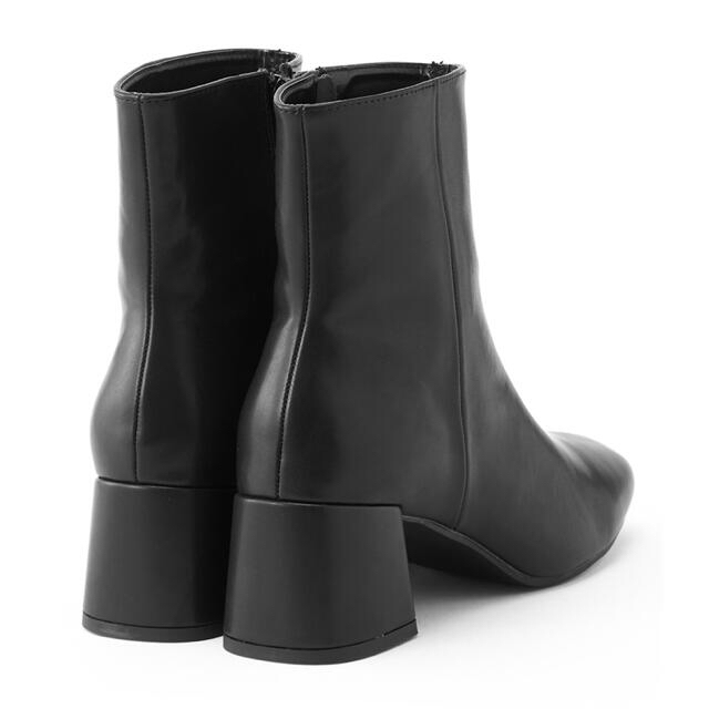 GRL(グレイル)の【GRL】スクエアトゥチャンキーヒールブーツ 24.5 ブラック 黒 レディースの靴/シューズ(ブーツ)の商品写真