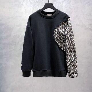 Dior - ディオールデニムパッチワークスウェットシャツ  XL