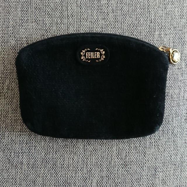 FEILER(フェイラー)のフェイラー 黒ポーチ レディースのファッション小物(ポーチ)の商品写真