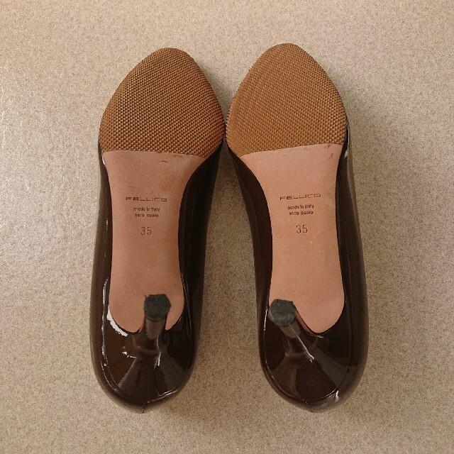 PELLICO(ペリーコ)のペリーコ  エナメルパンプス 35 ブラウン レディースの靴/シューズ(ハイヒール/パンプス)の商品写真