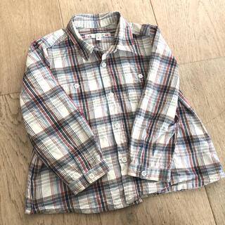 ボンポワン(Bonpoint)のボンポワン コットン100% チェックシャツ(ブラウス)
