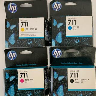 ヒューレットパッカード(HP)のhp プロッター  711 インクカートリッジ 4色(オフィス用品一般)