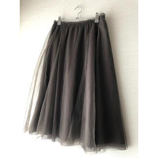 GRACE CONTINENTAL - 最終価格!極美品♡チュールレーススカート カーキ色