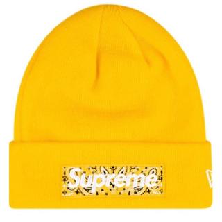 シュプリーム(Supreme)の【新品】supreme ボックス バンダナ ロゴ ニット帽 ビーニー cap (ニット帽/ビーニー)