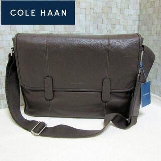 Cole Haan - 新品 コールハーン 本革メンズ メッセンジャーバッグ ショルダーバッグ 濃茶